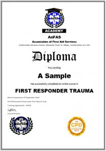 AoFAS diploma